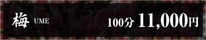 梅100分11000円